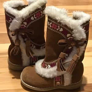 Girls brown boots size 7